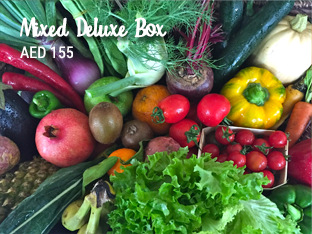 Mixed deluxe box fruit and veggies