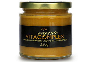 Buy online GFM Honey, Organic Vitacomplex with Royal Jelly, Prop & Pollen