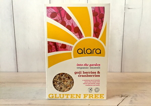 Buy Online Alara, Organic 'Into the Garden' Goji and Cranberry Muesli (gluten free)