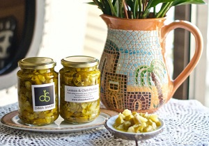 Organic lemon chili pickle dima sharif