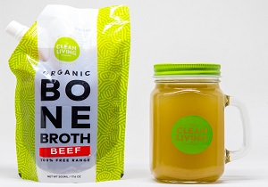 Clean Living, Organic Beef Bone Broth | 100% Grass-fed Beef Bone Borth