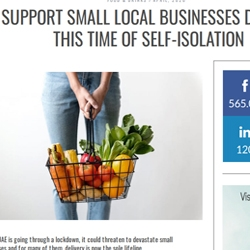 support small local businesses during isolation April 2020