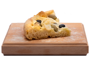 Focaccia with Olives Onions