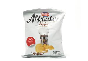 Amica, Alfredo Gourmet Artisan Black Pepper Chips